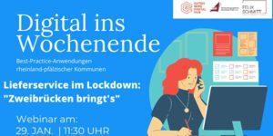 """Lieferservice im Lockdown: """"Zweibrücken bringt's"""""""