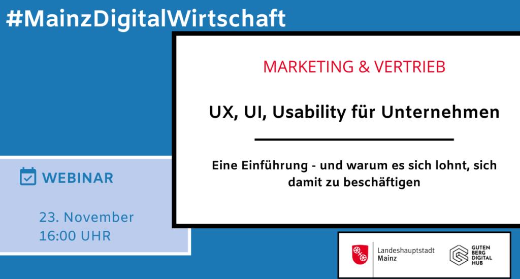 UX, UI, Usability für Unternehmen